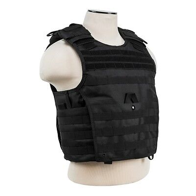 NcStar VISM BLACK Tactical MOLLE Operator Plate Carrier Body Armor Chest Rig SM - Chest Plate