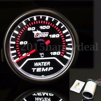 2'' 52MM UNIVERSAL CAR AUTO LED WATER TEMP TEMPERATURE GAUGE METER SMOKED 12V
