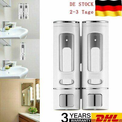 Dual Seifenspender zur Wandbefestigung für Duschgel Shampoo Seife 800mL DE DHL