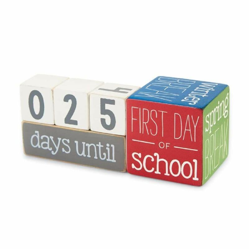 Mud Pie Teacher Break Countdown Block Set