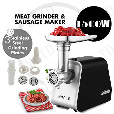 1500W Electric Meat Grinder Kitchen Food Sausage Mincer Stainless BEST