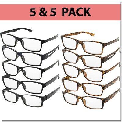 Reading Glasses Men Women Readers Unisex Styles Multi Pack 10 Pairs New Style (Glass Readers)
