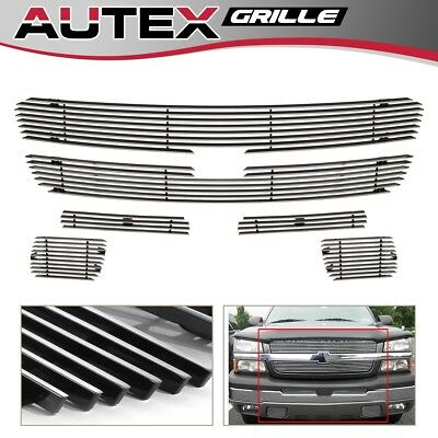 6 Alum Billet Grille Combo For 03-05 Chevy Silverado 1500-3500/03-06 Avalanche