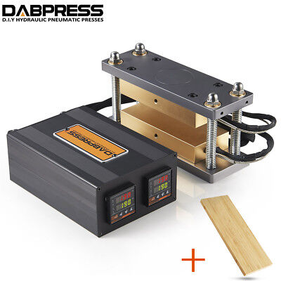 3x7 Anodized Rosin Cage Kit Rosin Press Machine Bamboo Plank For Insulation