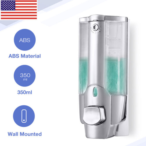 Soap Dispenser Bathroom Wall Mount Shower Shampoo Lotion Container Holder 350ml