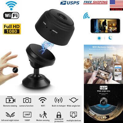 Hidden Spy Camera Mini Wifi security Wireless IP 1080P Night Vision HD Monitor
