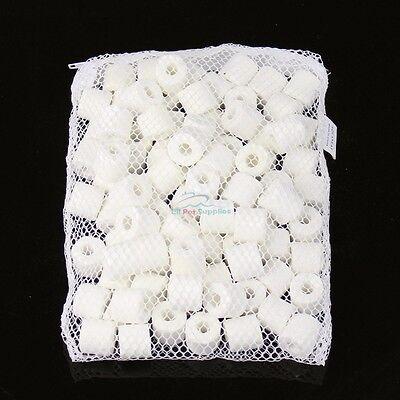 Bio Ceramic Rings in FREE Filter Media Bag for Aquarium Fish Canister (Ceramic Media)