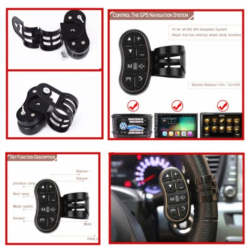 7-Keys Car Wireless Steering Wheel Audio Bluetooth Switch For DVD Player GPS Nav