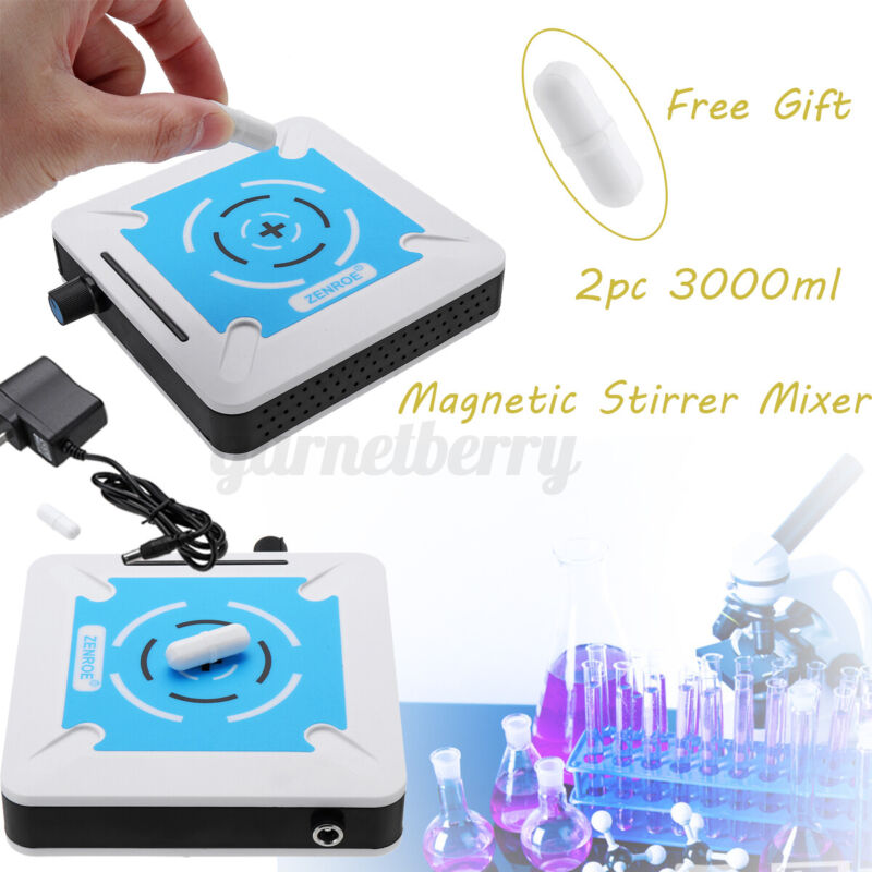 Magnetic Stirrer Mixer Stirring Machine 1000ML Mixed Capacity + Stir Bar Set !