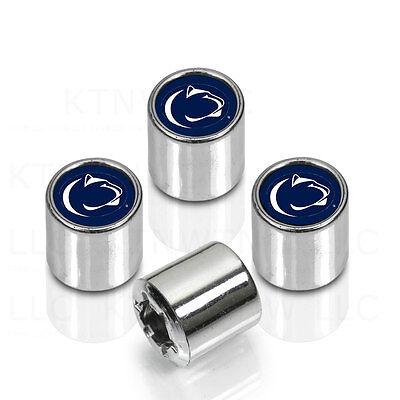 (NCAA Penn State Nittany Lions Car Truck Chrome Finish Tire Valve Stem Caps Cover)