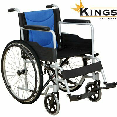 KINGS Explorer Wheelchair Foldable Self Propelled Assisted  Light Mobility Aid