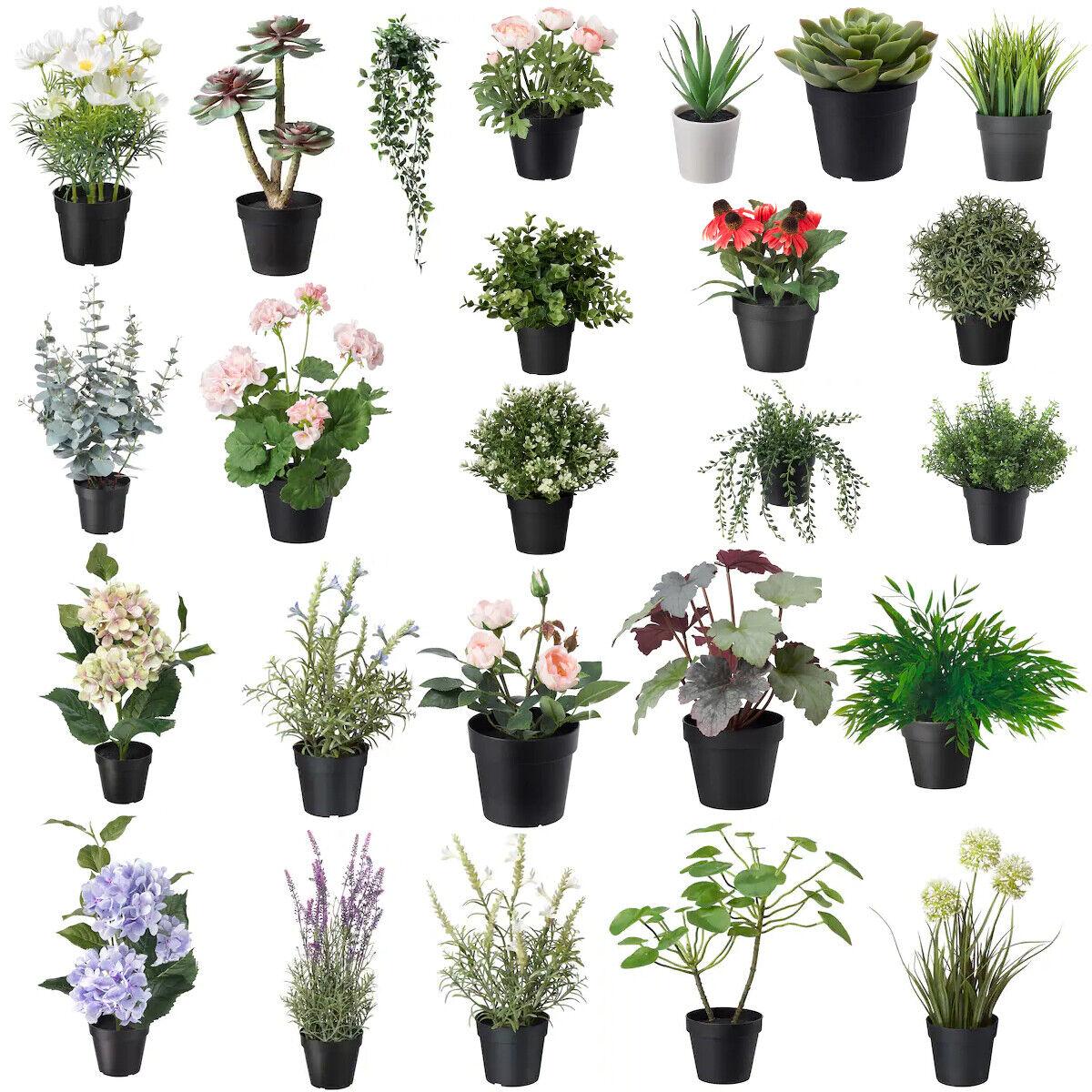 IKEA FEJKA Topfpflanze, künstlich, drinnen/draußen Kunstblume DekoPflanze NEU