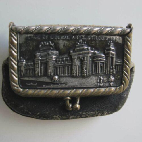 Antique 1904 St Louis Worlds Fair Coin Purse Palace of Liberal Arts Excellent