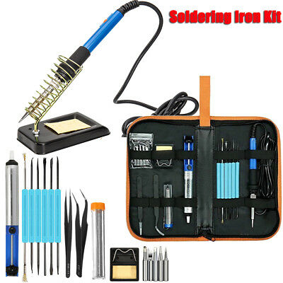 110v 220v Soldering Iron Kit Electric Welding Tool 60w Adjustable Temperature
