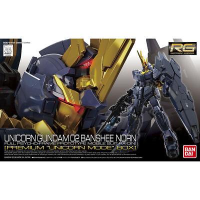 Bandai Gundam UC 02 Banshee Norn Premium Unicorn Mode Box RG 1/144 Model Kit USA