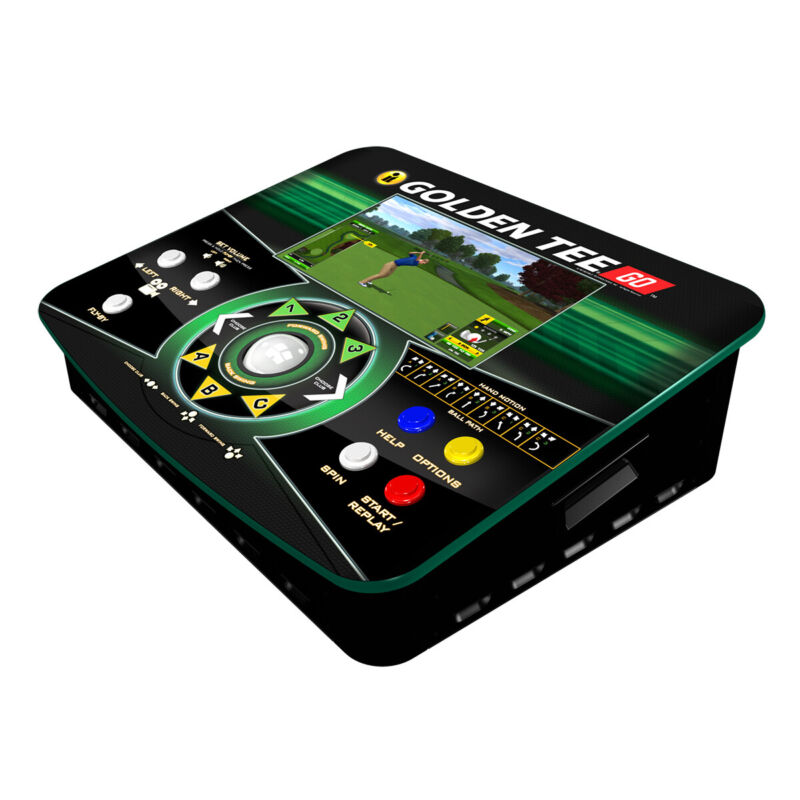 Golden Tee Go Golf Play Anywhere All-in-one Portable Cabinet Built-In Screen