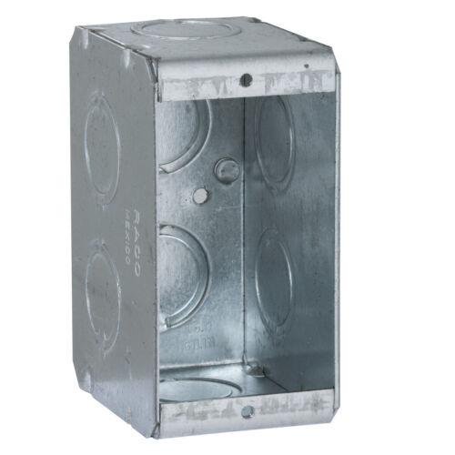 Single Gang Masonry Box 4 In X 2 In X 2-1/2 In W/ 1/2-3/4 Combination Knockouts