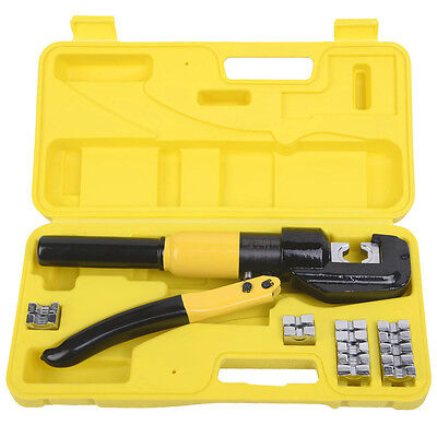 8 Ton Hydraulic Wire Terminal Crimper Battery Cable Lug Crimping Tool Wdies