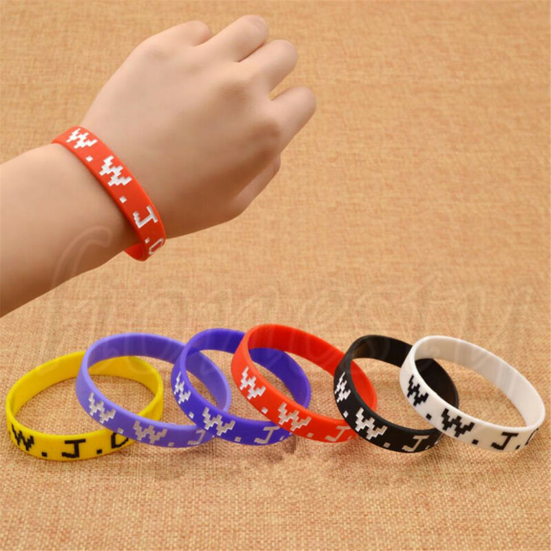 Details About 1 2 5pcs Wwjd What Would Do Wristband Women Men Silicone Rubber Bracelet