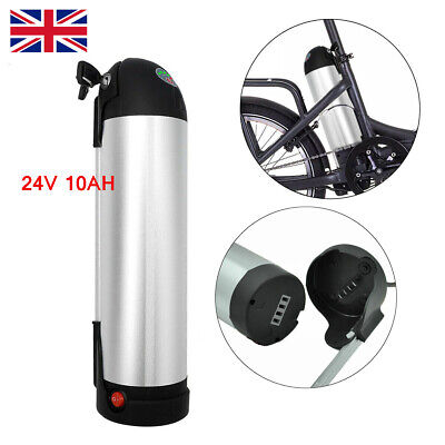 24V 10Ah 250W Bottle 18650 Lithium Battery Pack for Electric Bicycle E-bike UK
