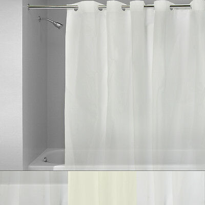 EZ On 100% EVA Plastic 72″ x 72″ Hookless Shower Curtain/Liner -3 Colors Bath