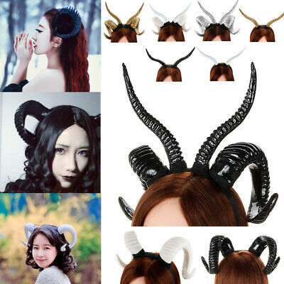 3 Style Devil Antelope Sheep Headband Hair Horn Hoop Headdress Cosplay Hairband  - Plastic Devil Horns
