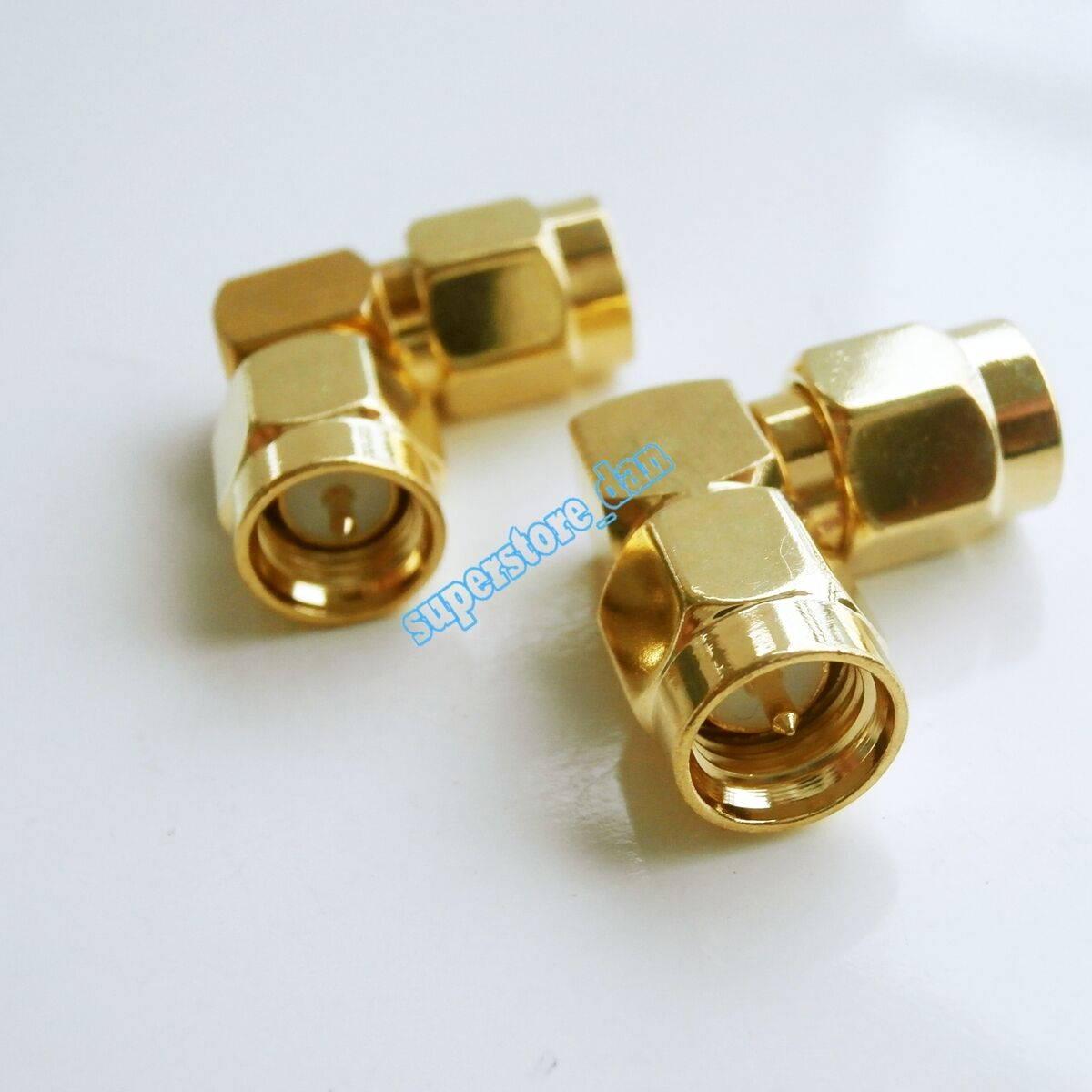 SMA male plug to SMA male right angle in series L Type lot RF adapter connector