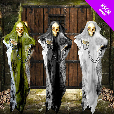 Halloween CHEAP Skeleton in Chains Hanging Halloween Decoration Prop Display - Cheap Halloween Decoration