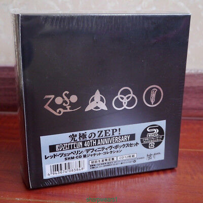 """Led Zeppelin """"40th Anniversary"""" 12 CD Mini-LP Japan Box Set Collection IN STOCK"""