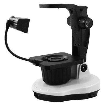 Jewelry Gem Microscope Stand Bausch And Lomb Focusing Rack Top Bottom Light