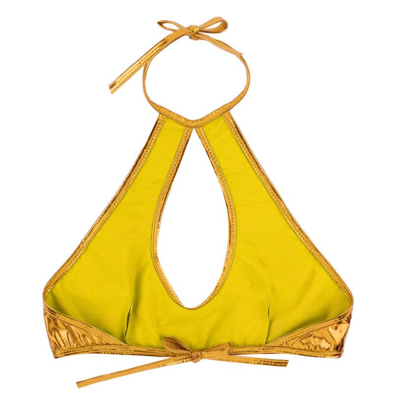 Women PVC Tank Crop Tops Blouse Sleeveless Shirt Sleeveless Cami Bustier Vest