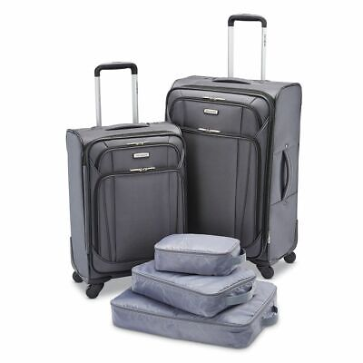 "Samsonite 5-Pc. Luggage Set - GREY  21"" 25"" Spinner, Packing Bags"
