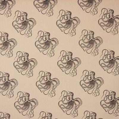 Dekostoff Baumwollstoff Kraken beige schwarz 1,40m Breite ()