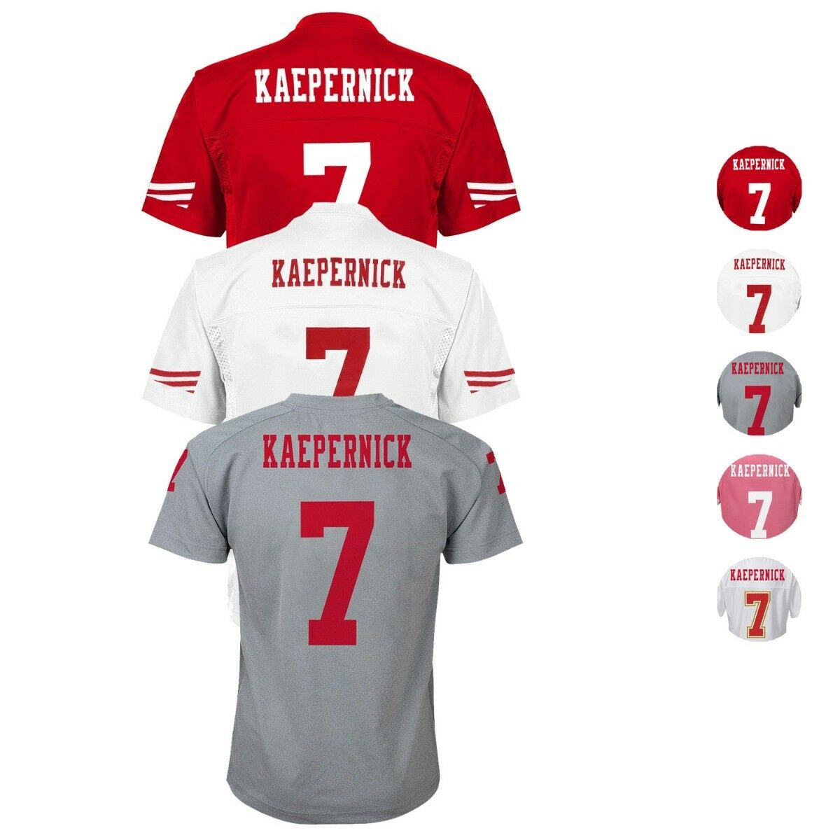 the best attitude 807fc 3f4c3 Colin Kaepernick NFL San Francisco 49ers Kids Official Home & Away Jersey