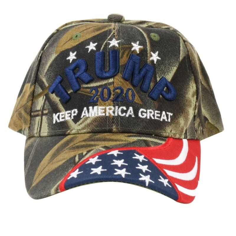President Donald Trump 2020 Camo KAG Hat Keep America Great US Flag USA Cap Gift