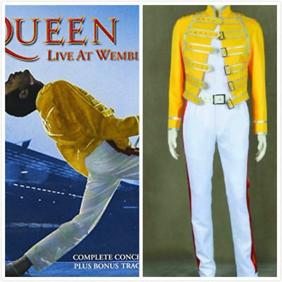 Queen Band Cosplay Costume Wembley Stadium Halloween Carnival Costume Cosplay#A  - Wembley Halloween