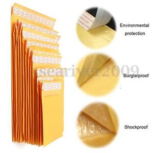 Yellow-Kraft-Bubble-Bag-Padded-Envelopes-Document-Craft-Mailers-Shipping-Bags
