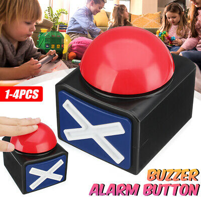 Game Answer Buzzer Alarm Button w/ Sound Light Trivia Quiz Got Talent Buzzer US