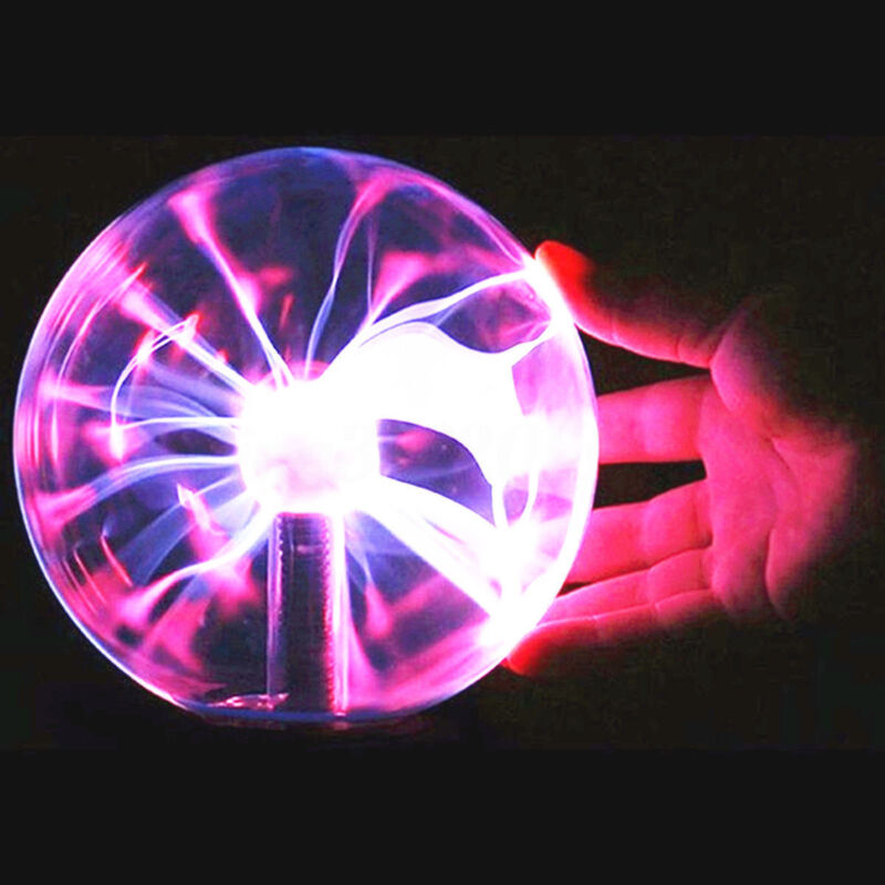 Plasma Ball 4inh Touch Globe Activated Sensitive Constantly Lighting Light