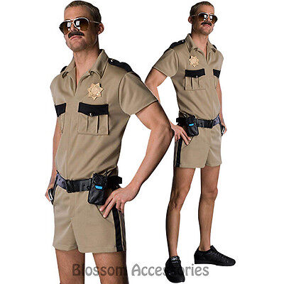 CL282 Reno 911 Lt. Dangle Funny Mens Adult Costume Police Cops Halloween Outfit - Funny Cop Costume