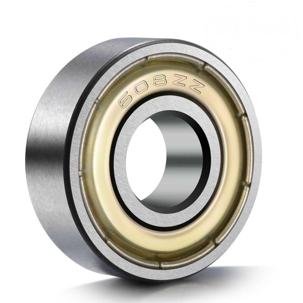 608ZZ 8x22x7 Shielded Greased Miniature Ball Bearings 608 ZZ Ball & Roller Bearings