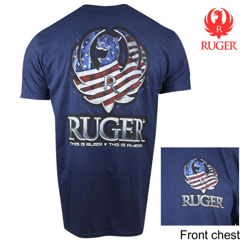 Ruger Flag Reflection T-Shirt (XL)- Navy