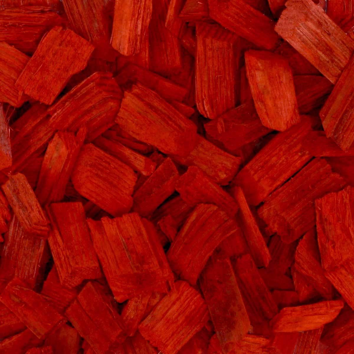Holzhackschnitzel Rot Hackschnitzel Deko Holz Hackgut 70l x 12 Sack 840l Palette