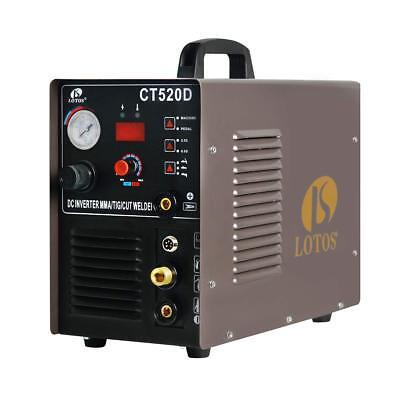 Plasma Cutter Dc Tig Dc Stick Welder 3 In 1 Lotos Ct520d Multi Process Welder