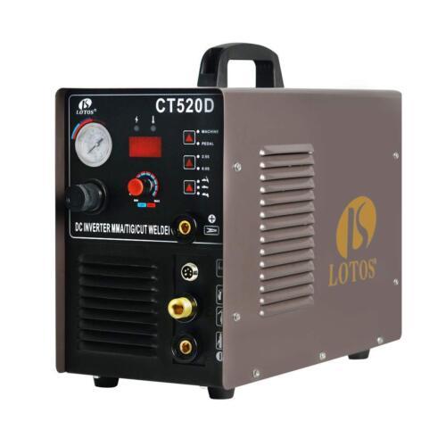 Plasma Cutter & DC TIG/ DC Stick Welder 3 in 1 Lotos CT520D Multi Process Welder