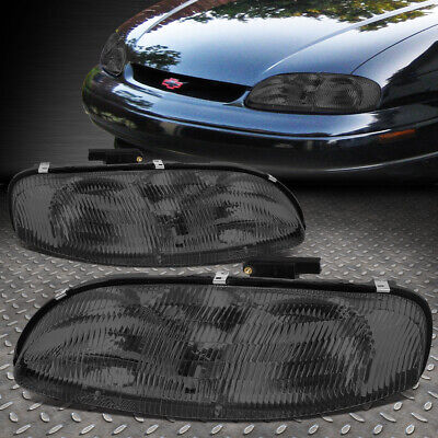 FOR 95-01 CHEVY LUMINA MONTE CARLO SMOKED HOUSING CLEAR CORNER HEADLIGHT LAMPS Monte Carlo Lumina Headlight