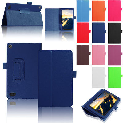 Hot! Tablet Case Flip PU Leather Smart For Amazon Kindle Fire HD 10 2017 7th Gen ()