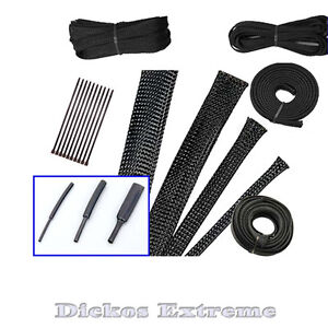 Black-Expandable-Cable-Sleeving-Kit-DIY-Case-Modding-DICKOS-EXTREME