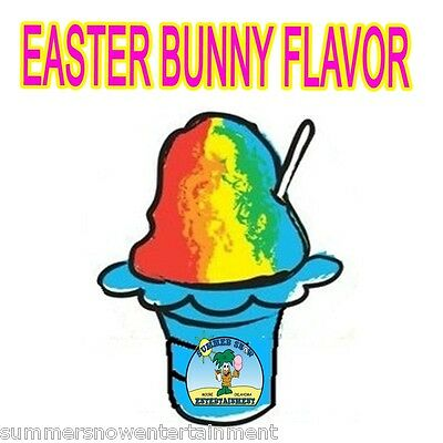 Easter Bunny Syrup Mix Snow Cone Shaved Ice Flavor Gallon Concentrate 1