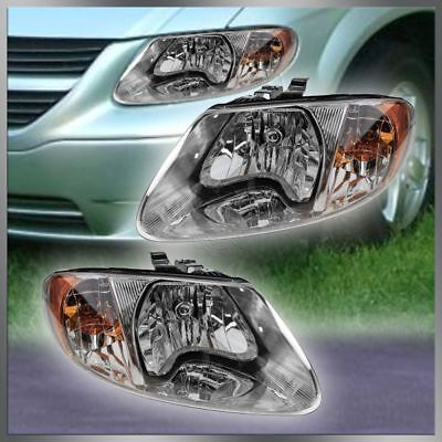 Voyager Headlight Set (Headlights Headlamps Left & Right Pair Set of 2 for Dodge Grand Caravan)